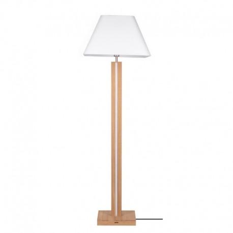Põrandavalgusti, Põrandavalgusti Quad, Õlitatud tamm/ valge/ tume hall, 2xE27+led