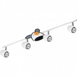 Laevalgusti DOGGY, Valge/ Kroom, 4xGU10 LED