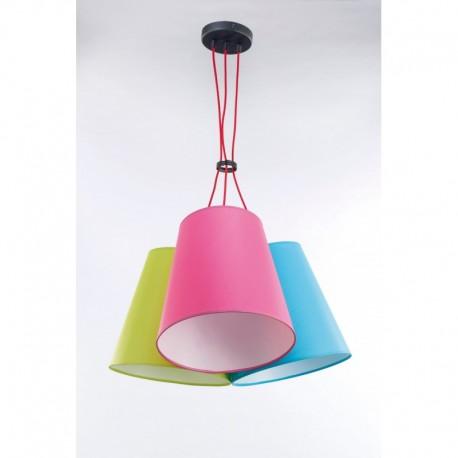 Rippvalgusti NECAR, Pistaatsia/ roosa/ hele sinine, 3xE27