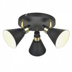 Lae pinnapealne valgusti Biagio, Must matt/ kuldne, 3xE14