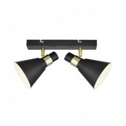 Lae pinnapealne valgusti Biagio, Must matt/ kuldne, 2xE14