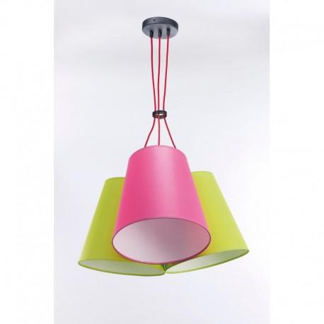 Rippvalgusti NECAR, Pistaatsia/ roosa, 3xE27